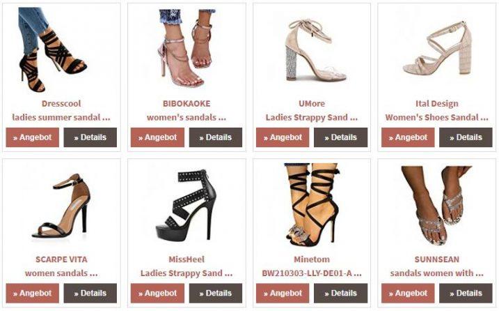 High Heel Sandals in Dictionary